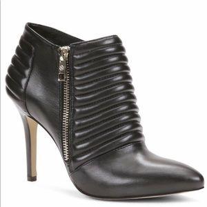 Ann Taylor Livia Black Leather Shooties